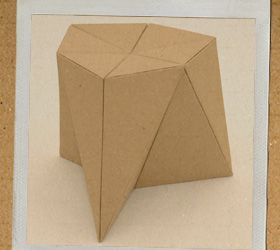 Free template and instructions for making your very own Cardboard Stool! From foldschool - cardboard furniture