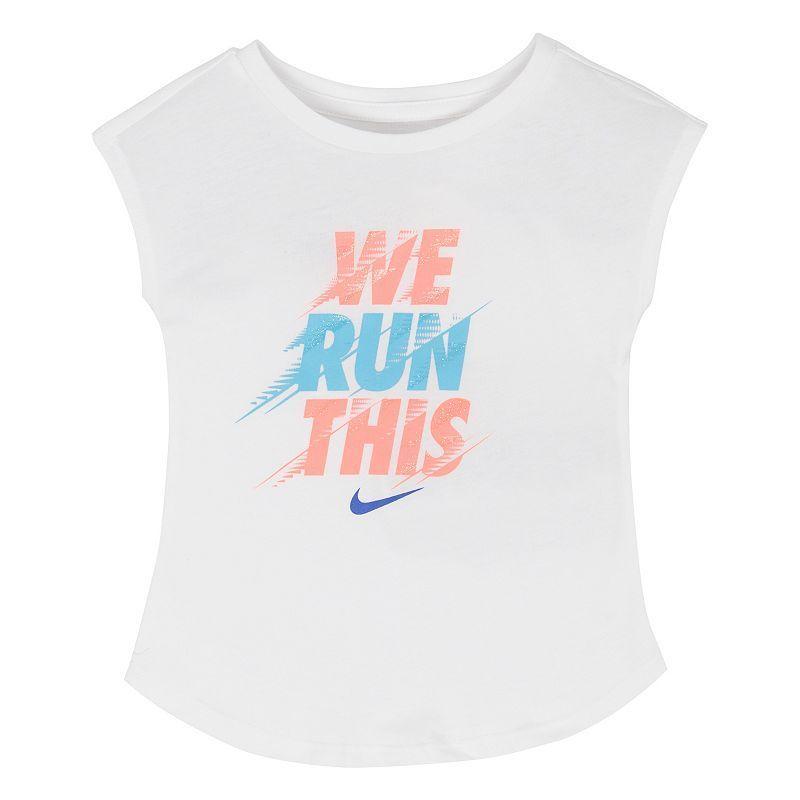 5a3b1f49 Girls 4-6x Nike Motion-Blur Tee | Products | Baby girl nike, Nike ...