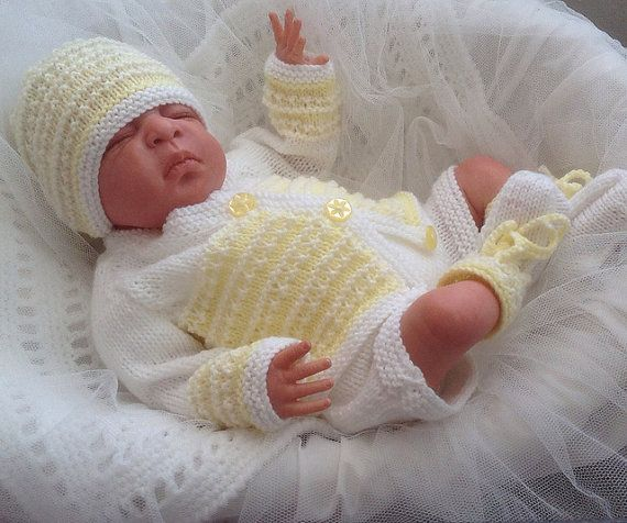 e4bb42269 Baby Knitting Pattern - Download PDF Knitting Pattern - Newborn Baby ...