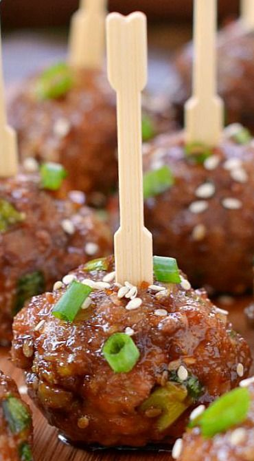 584ceed26 Teriyaki Meatballs - this yielded 32 meatballs for me. Last time I ...