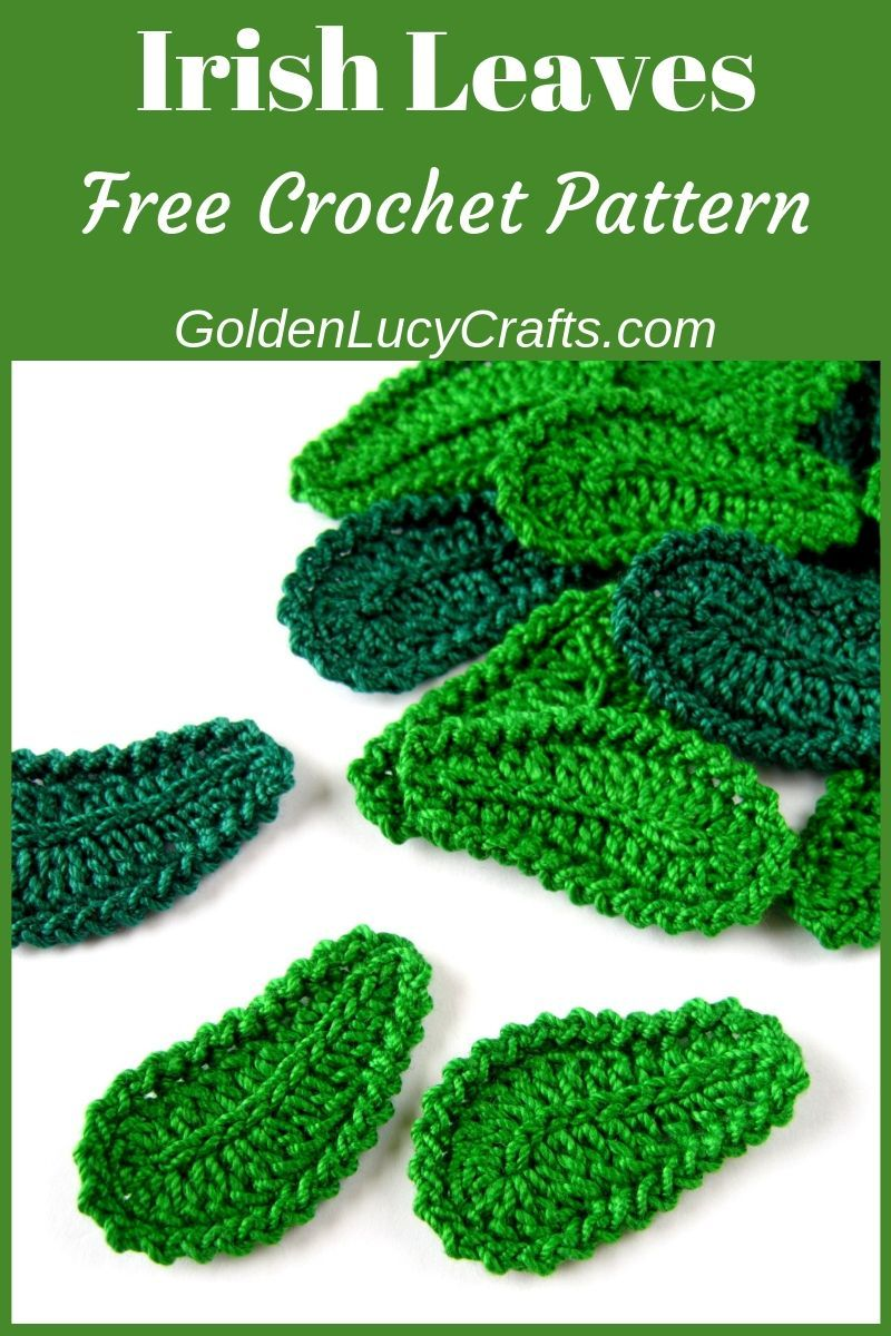 Crochet leaves, Irish Lace Motif