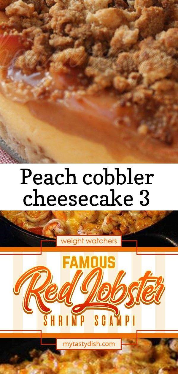 Peach cobbler cheesecake 3 #peachcobblercheesecake