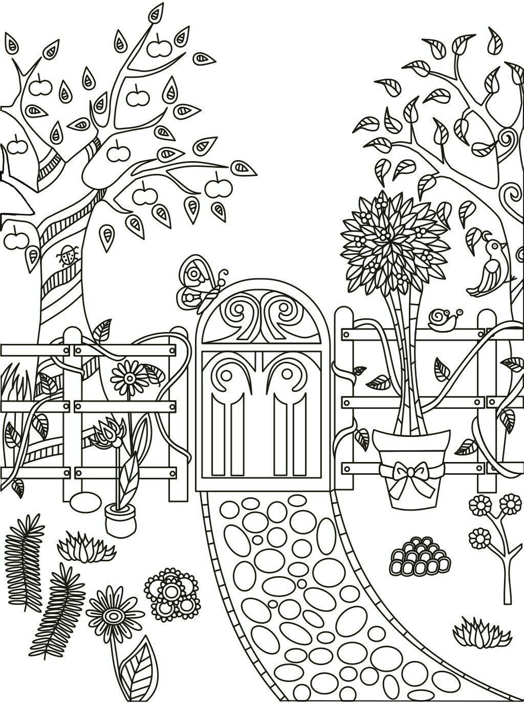 garden coloring page # 1
