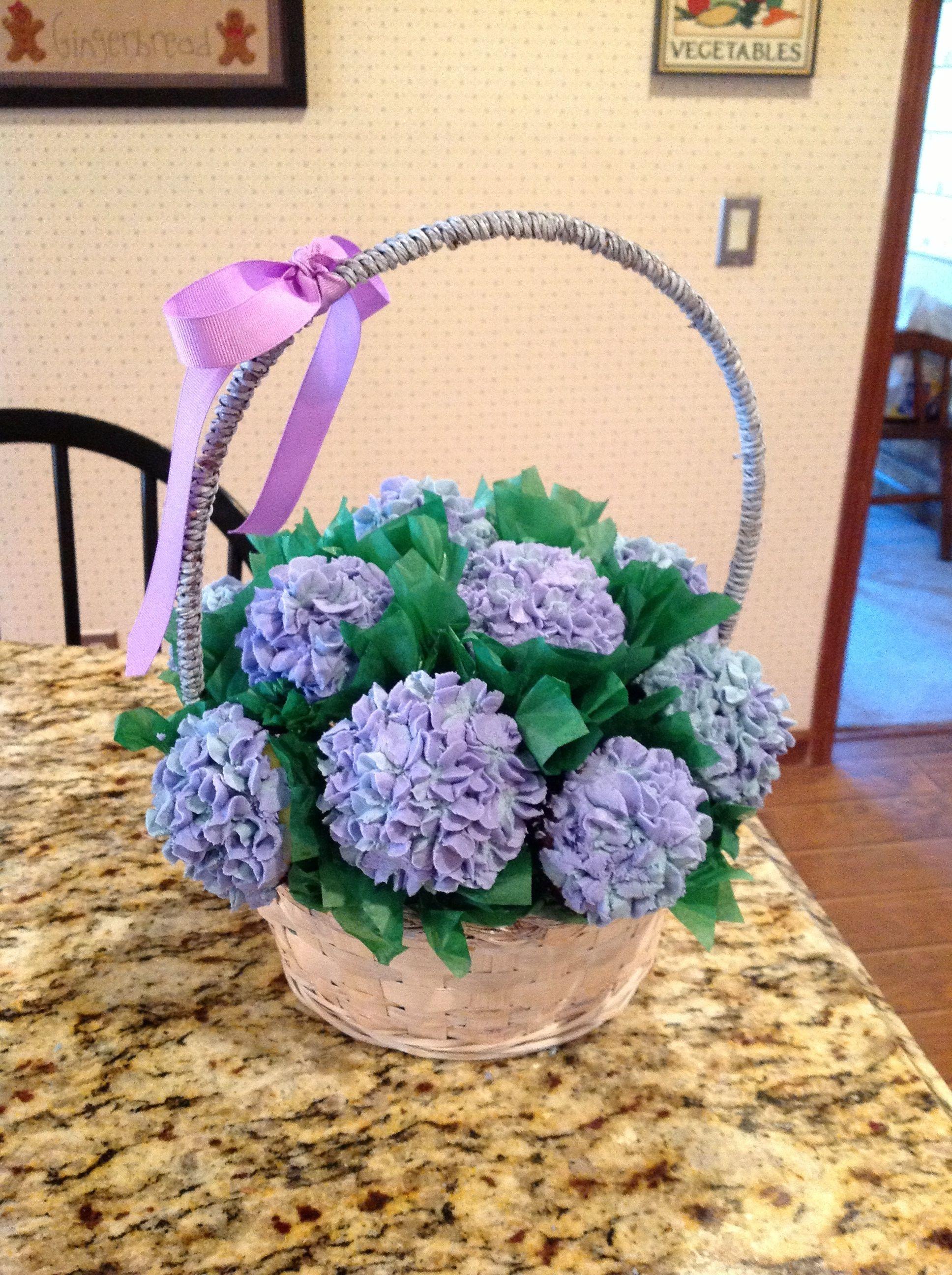 Hydrangea bouquet cupcakes cake pinterest