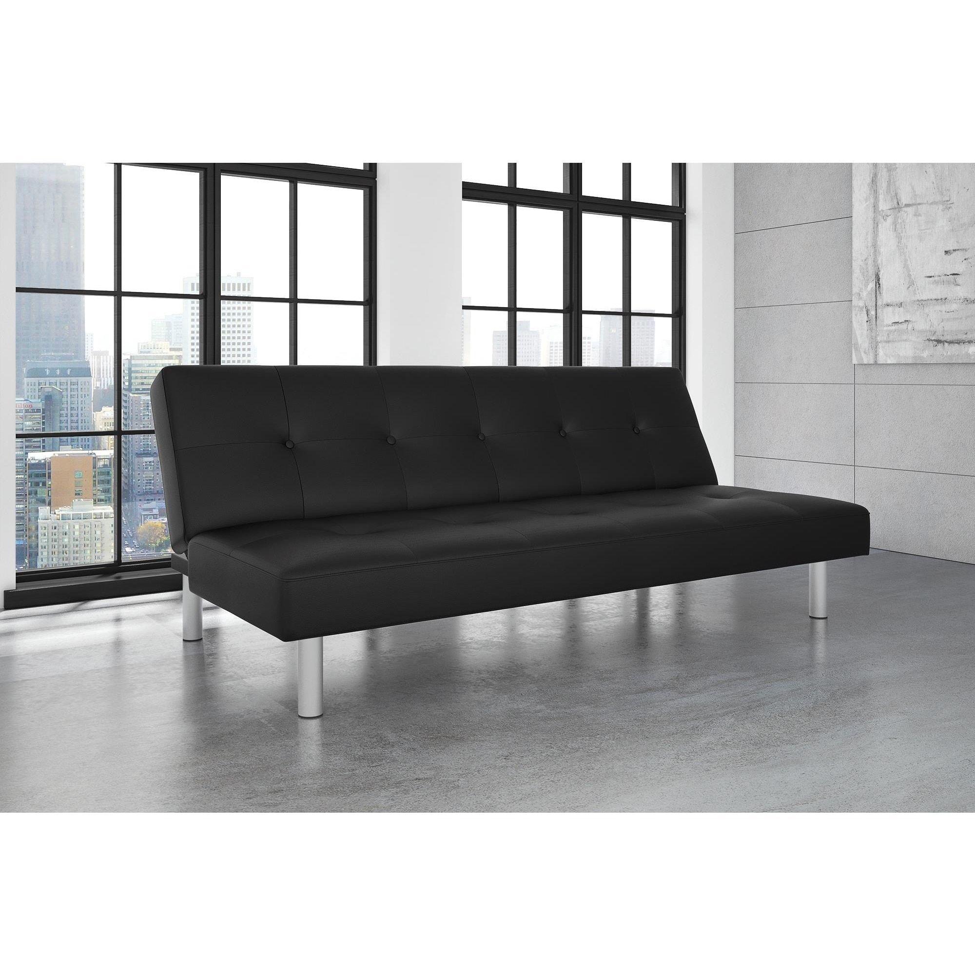 Avenue Greene Noah Faux Leather Futon Sofa Bed Dhp Black Size