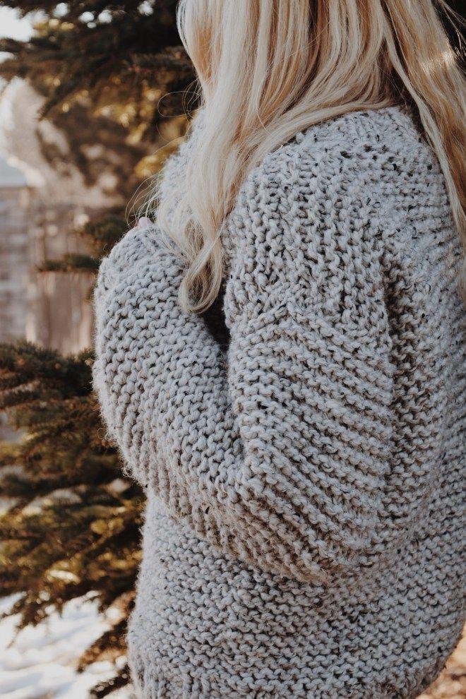 Campfire Sweater Knitting Pattern, Chunky Knit Sweater ...