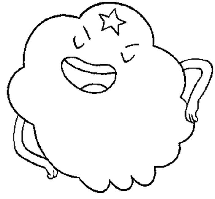 Adventure Time Lumpy Space Princess Sleeping Coloring