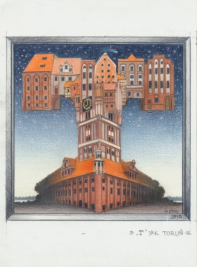 Jacek Yerka - Art Collection: T jak Toruń