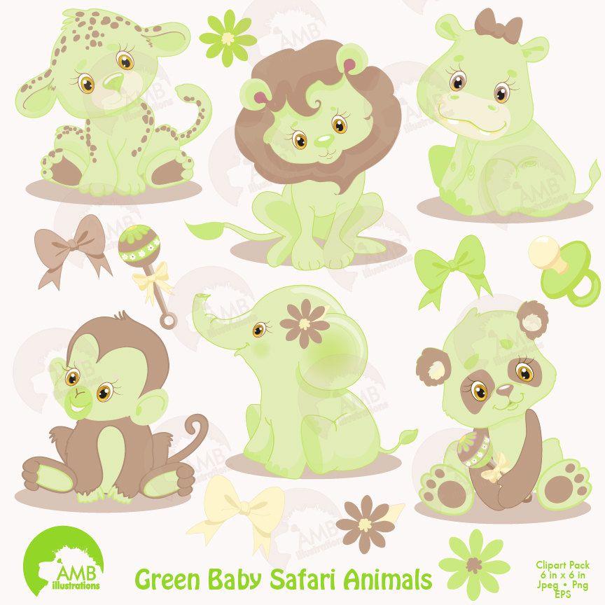 Jungle Animals Clipart, Jungle Animal Babies Clipart