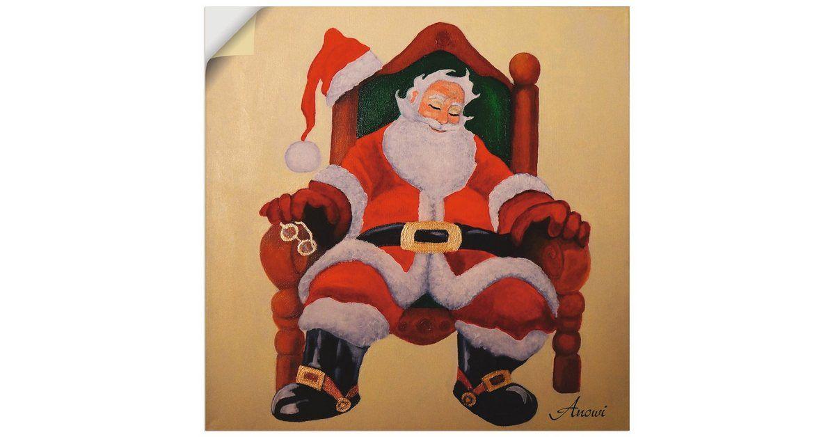 Photo of Wandfolie »Anowi: Schlafender Weihnachtsmann«