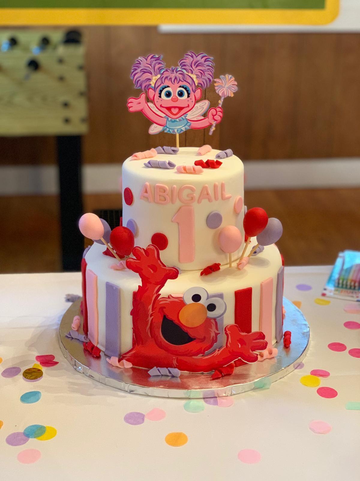 Abby Cadabby And Elmo Cake Idea Sesame Street Birthday With