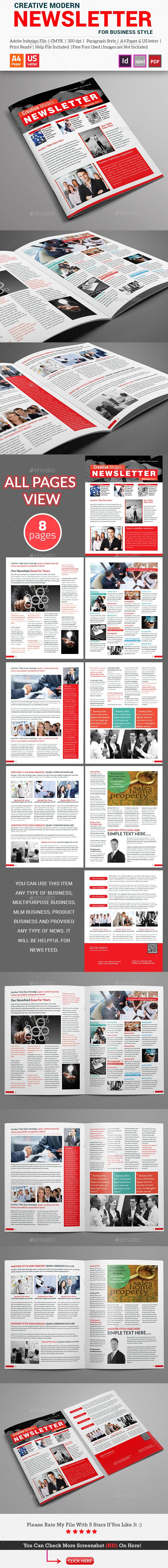 Creative Modern Newsletter For Business Style Business Style - Creative newsletter design templates