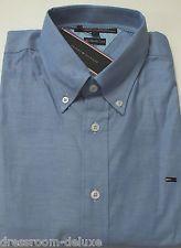 NEU Tommy HILFIGER Herren Business Hemd Chambray blau Two Ply cotton M L XL b739528814