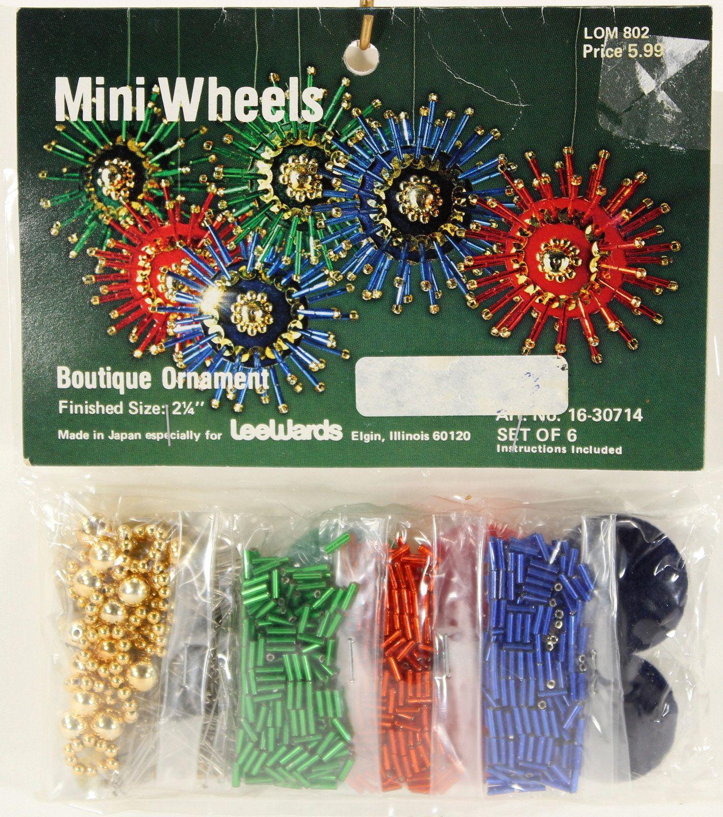 Lee Wards Mini Wheels Beaded Christmas Ornament Kit, Beads, Sequins