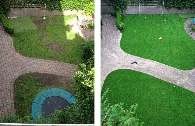 b2f92f94c4cee1 Ondanks een schaduwrijke tuin toch altijd een groen gazon zonder kale  plekken met kunstgras. De