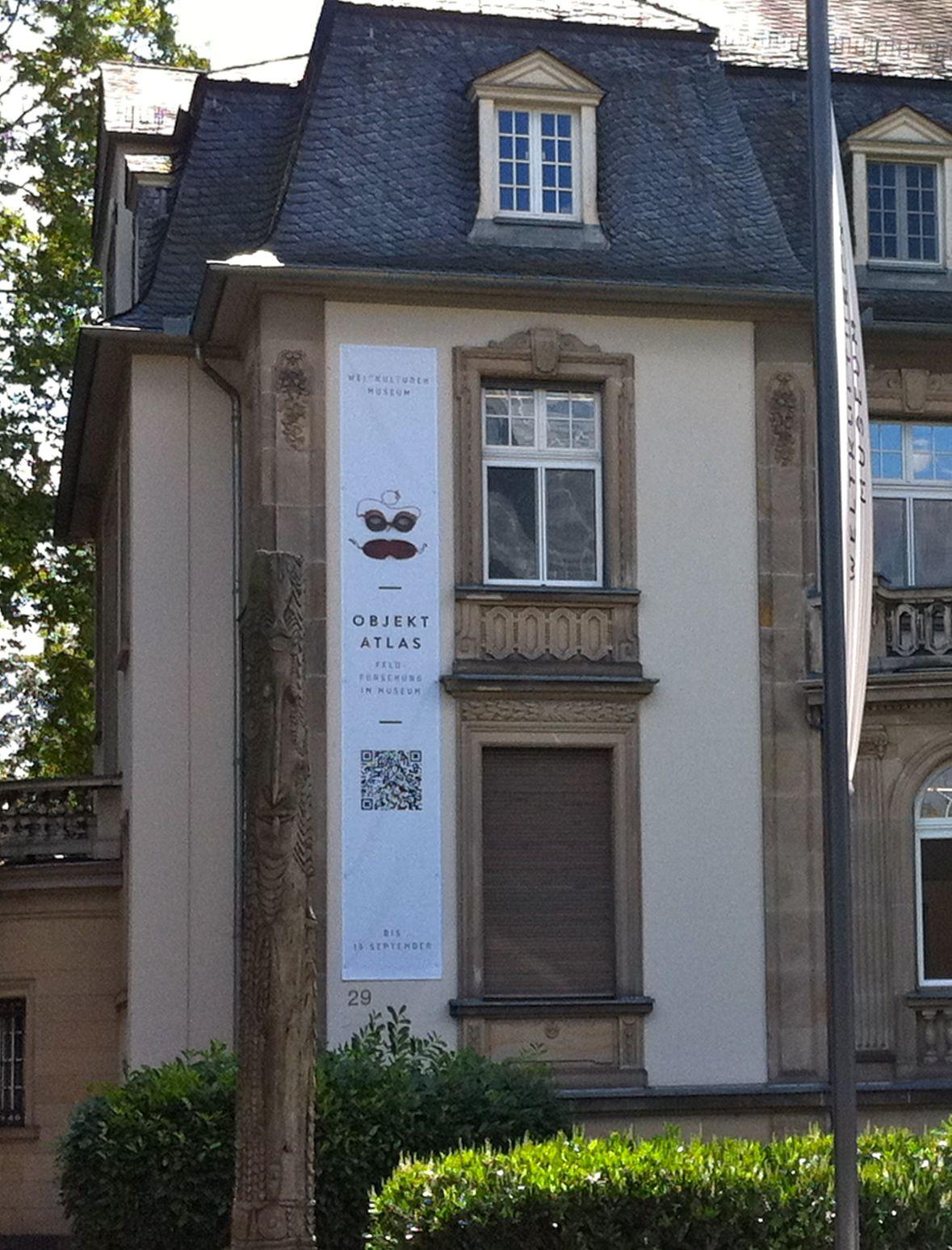 Feldforschung Im Museum Qr Code Am Weltkulturen Museum In Frankfurt Codigo Qr