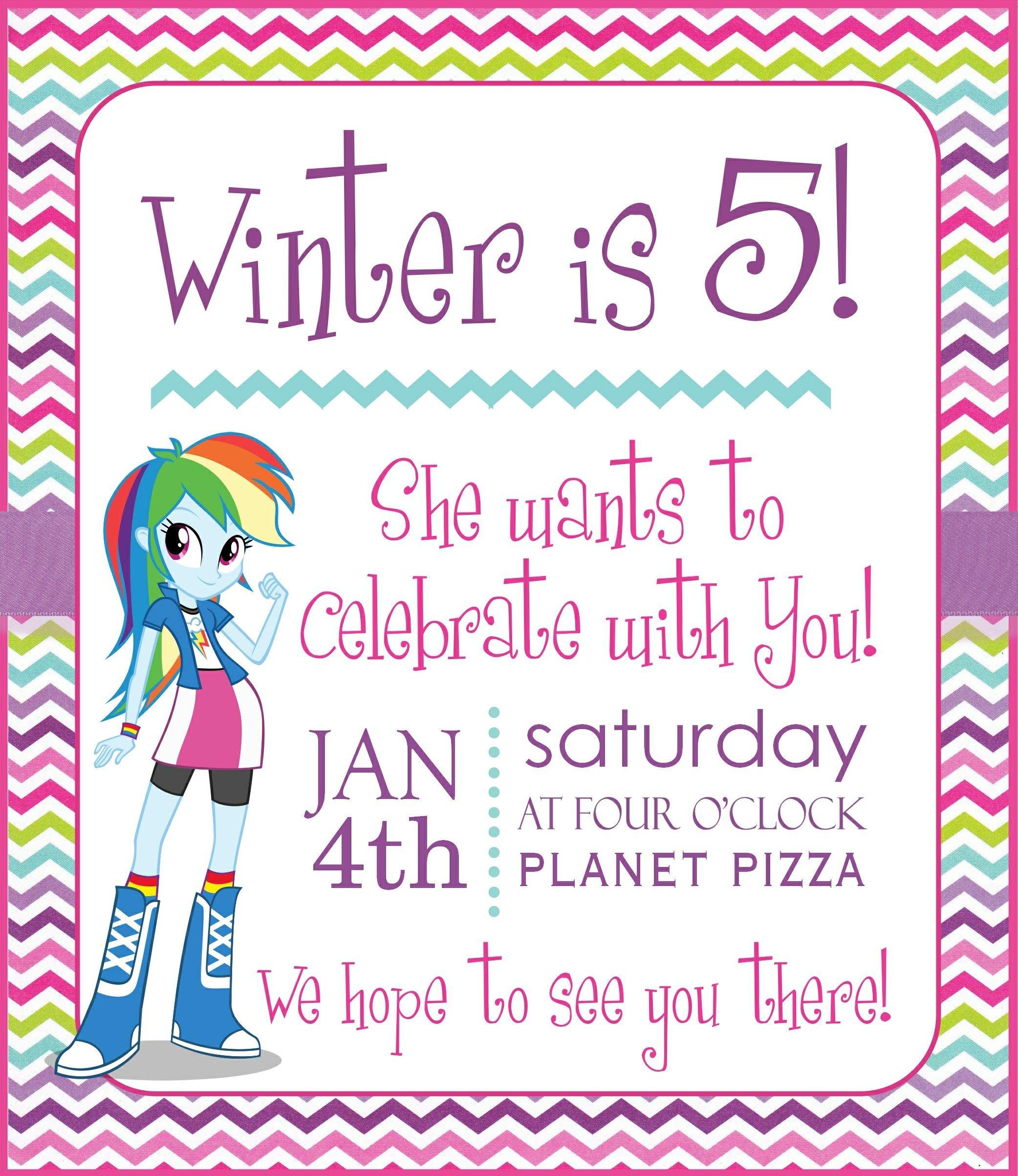 Equestria Girl Invite. Posh Tart Parties. | birthday ideas ...