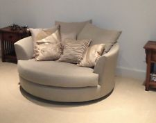 Round designer (Lazar) love seat (cuddle couch) from Cantoni ...