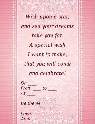 Sweet Invitation Wordings That Are Awesome And Actually Useful - Birthday invitation in words