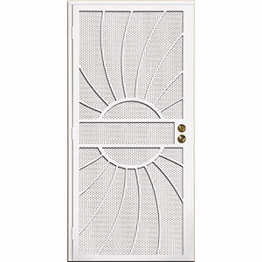 Gatehouse Sunburst White Steel Security Door Common 32 In X 81