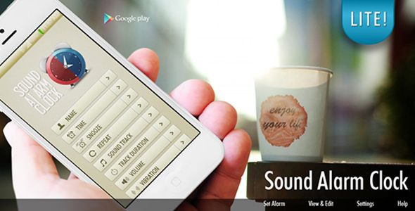 Sound Alarm Clock - Android App Source Code   Featured items