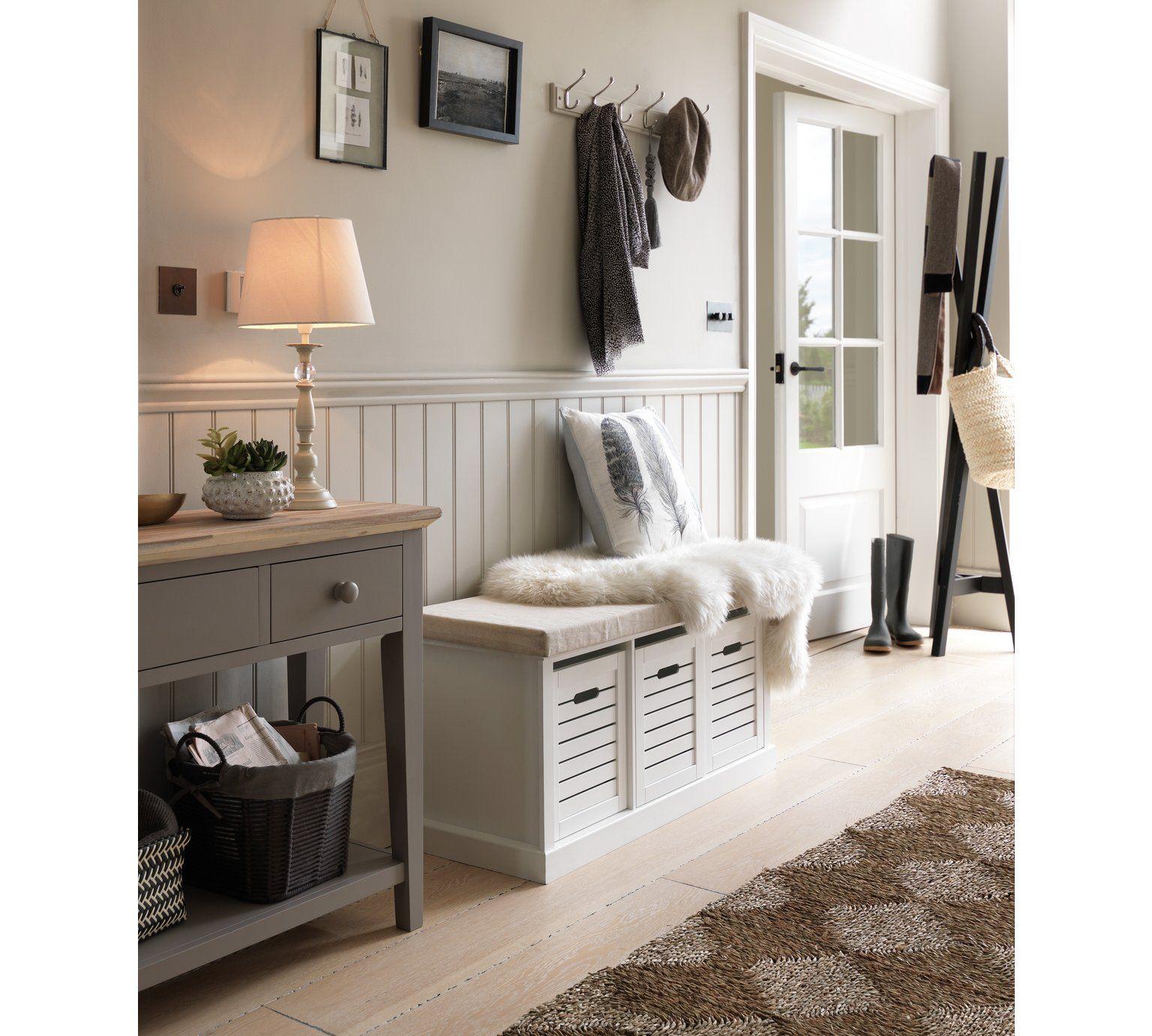 Buy HOME Hereford Storage Bench White at Argos.co.uk