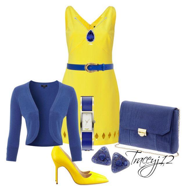 """Manglo Blahnik Shoes"" by traceyj12 ❤ liked on Polyvore featuring Manolo Blahnik, Lauren Merkin, Versace, Lauren Ralph Lauren, Blue Nile, Kate Spade and Hobbs Invitation"