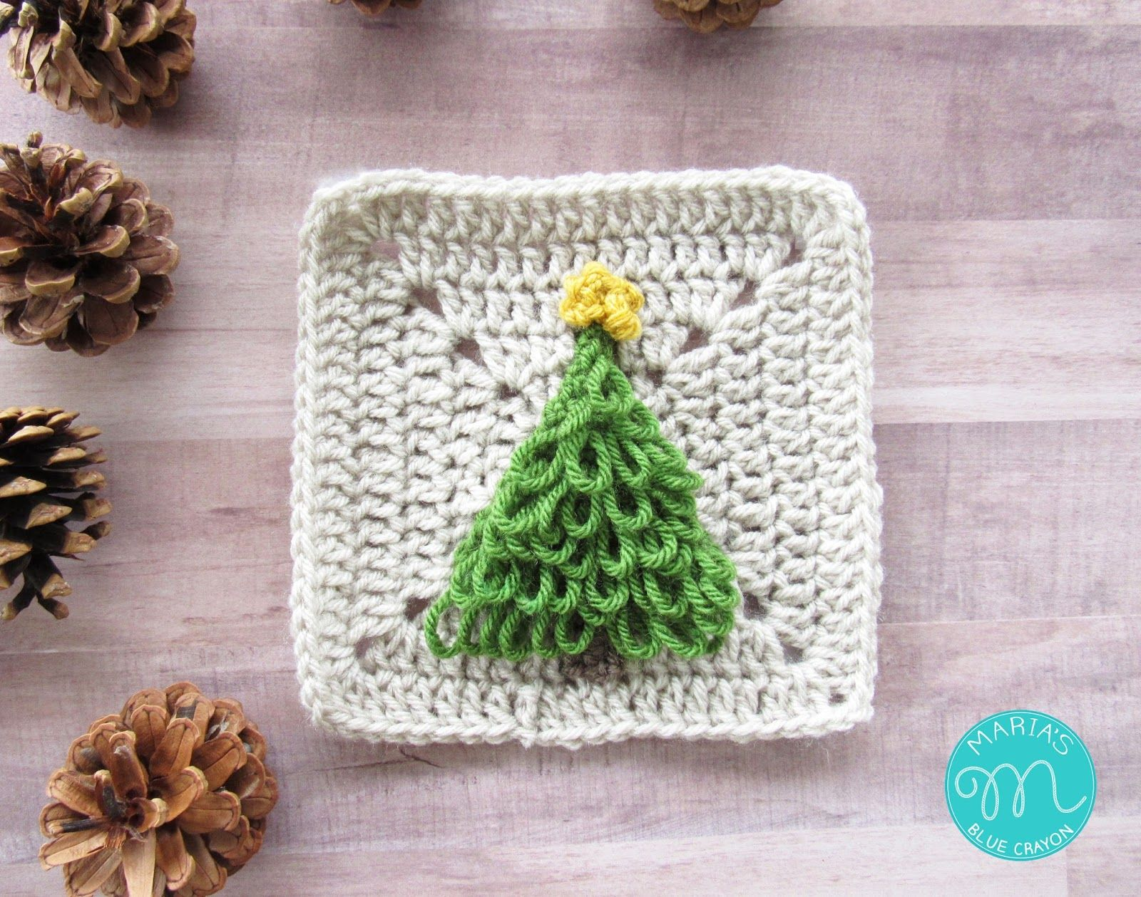 WEEK 3 - Christmas Granny Afghan CAL - Christmas Tree | crochet ...