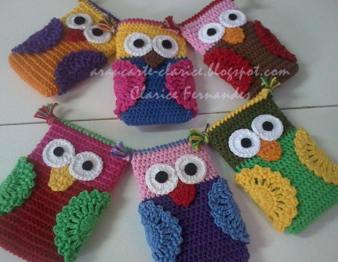 Capa de celular   Crochet Cases for Hooks/Electronics/etc ...