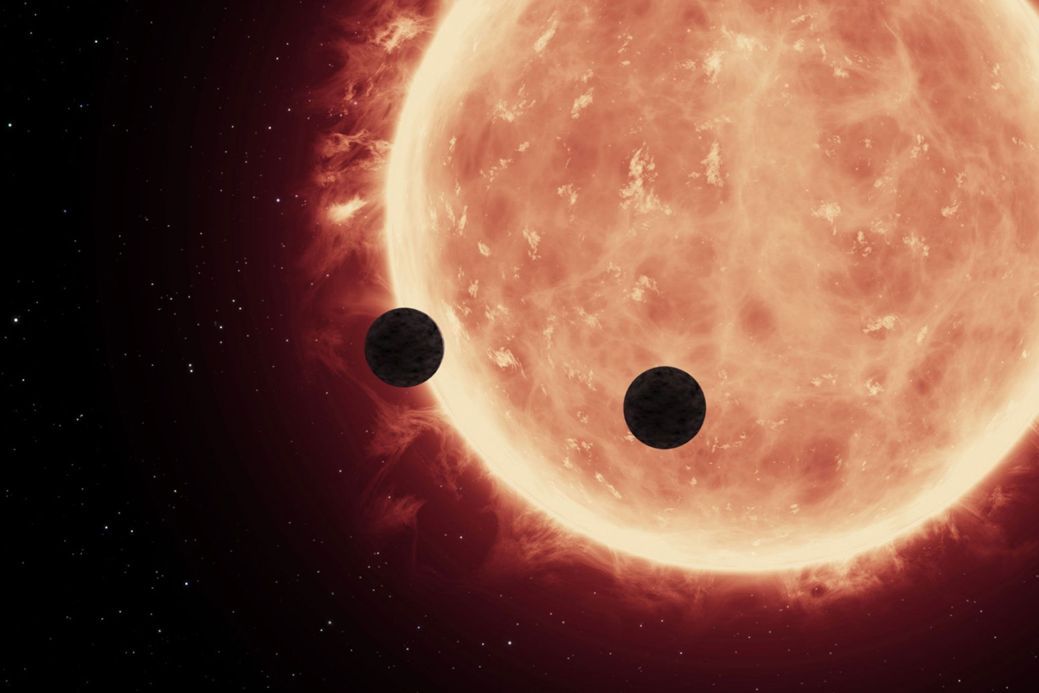 The two potentially habitable exoplanets both seem to have dense, compact blankets of gas like those around Earth or Venus.