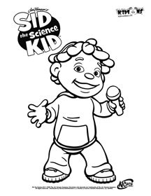 sid the science kid coloring pages  Google Search  Quiet book