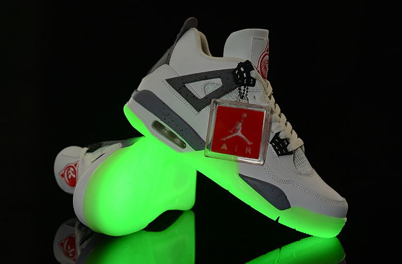 Best Gift Nike Jordan 4 Cheap sale Glow in the Dark Grey