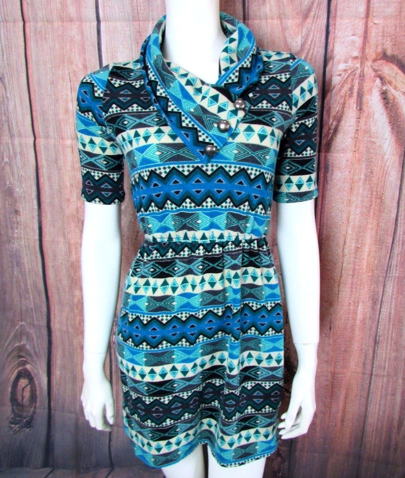 Awesome Awesome GIDDY UP GLAMOUR Country Western Sweater Dress Size ...
