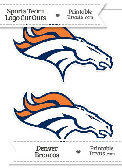 Medium Denver Broncos Logo Cut Outs From PrintableTreats