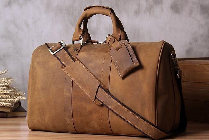 533e4da97 Leather Mens Cool Large Weekender Bag Travel Bag for Men – iwalletsmen