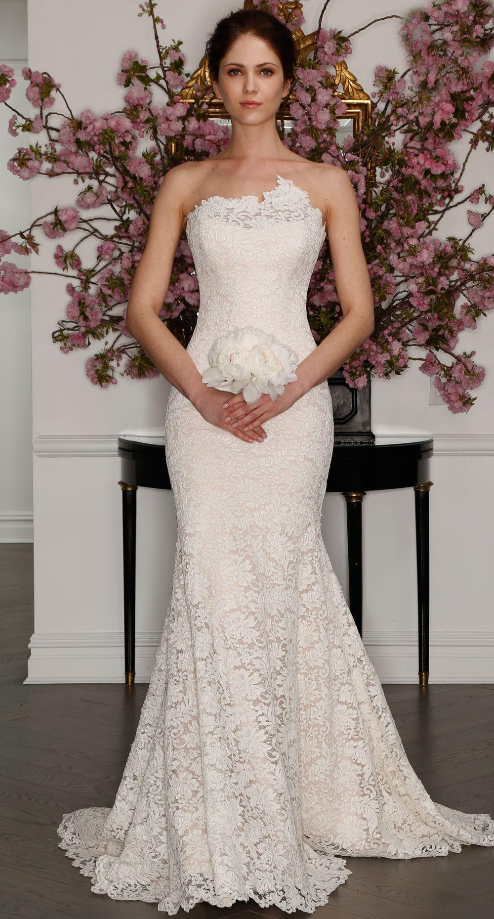 Blush mermaid wedding dress  Legends by Romona Keveza Shows Timeless Wedding Dresses for Spring
