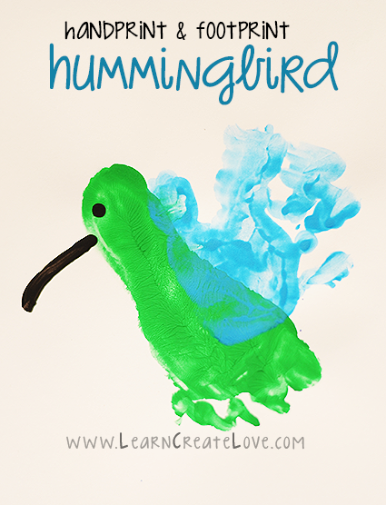 Handprint And Footprint Hummingbird Craft Kid Blogger Network