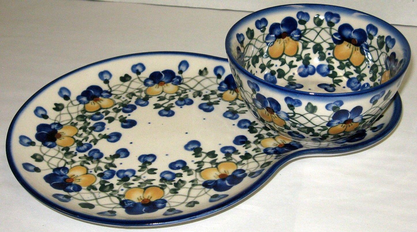 Soup and sandwich plate set & Soup u0026 Sandwich | Polish Pottery | Pinterest | Polish pottery and ...