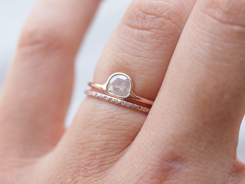 Wild Romance // Diamond Slice Ring in Rose Gold - Gardens of the Sun ...