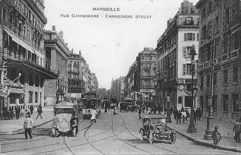 La Cannebière Carte postale, Marseille, Cartes postales