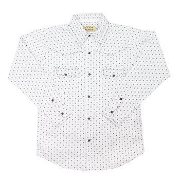 Cody James® Boy's Long Sleeve Pattern Print Western Shirt
