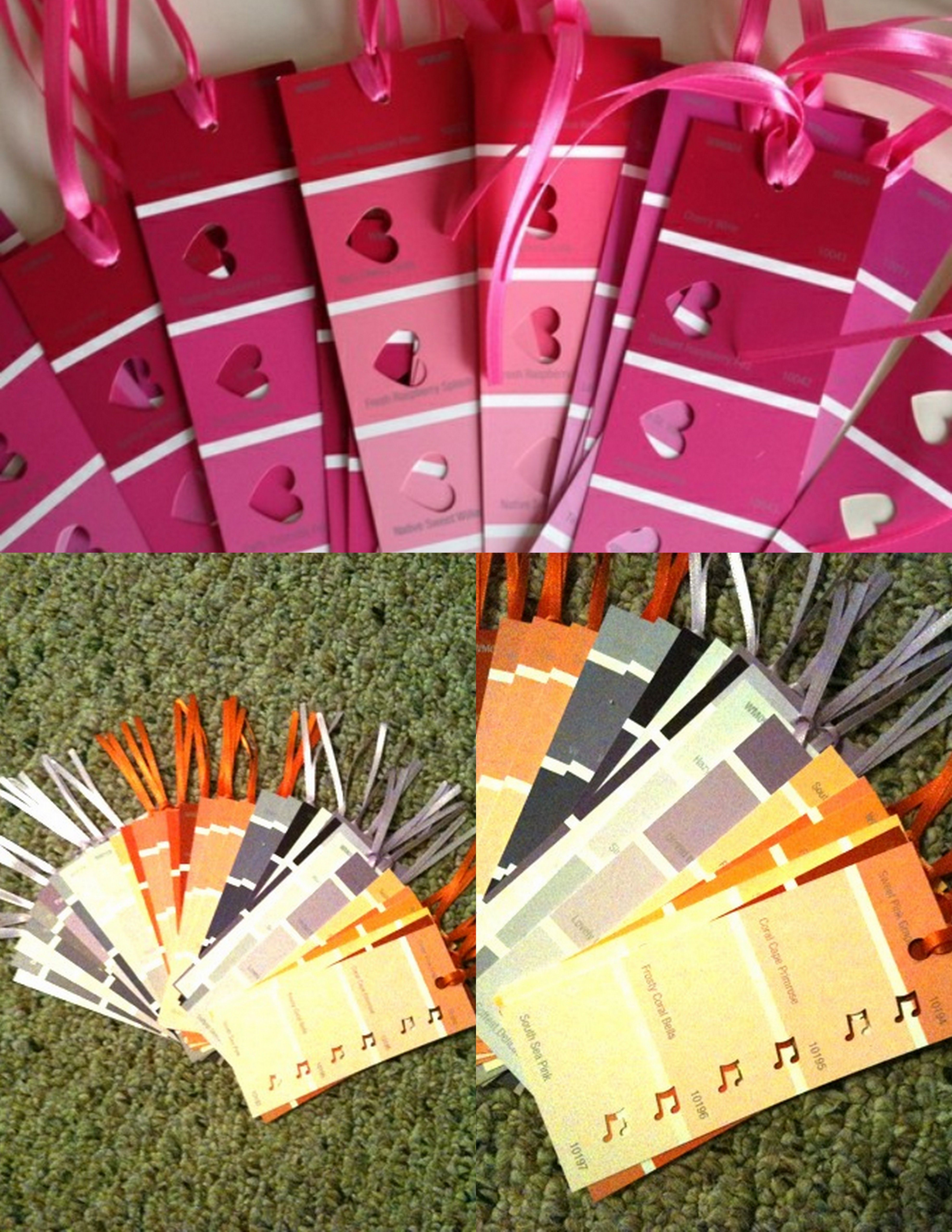 Top Valentines Book Marks Made From Paint Sample Strips Found On Pinterest Frugalfamilyfunblog Com Valentine Gift For Daughter Crafts Paint Sample Cards