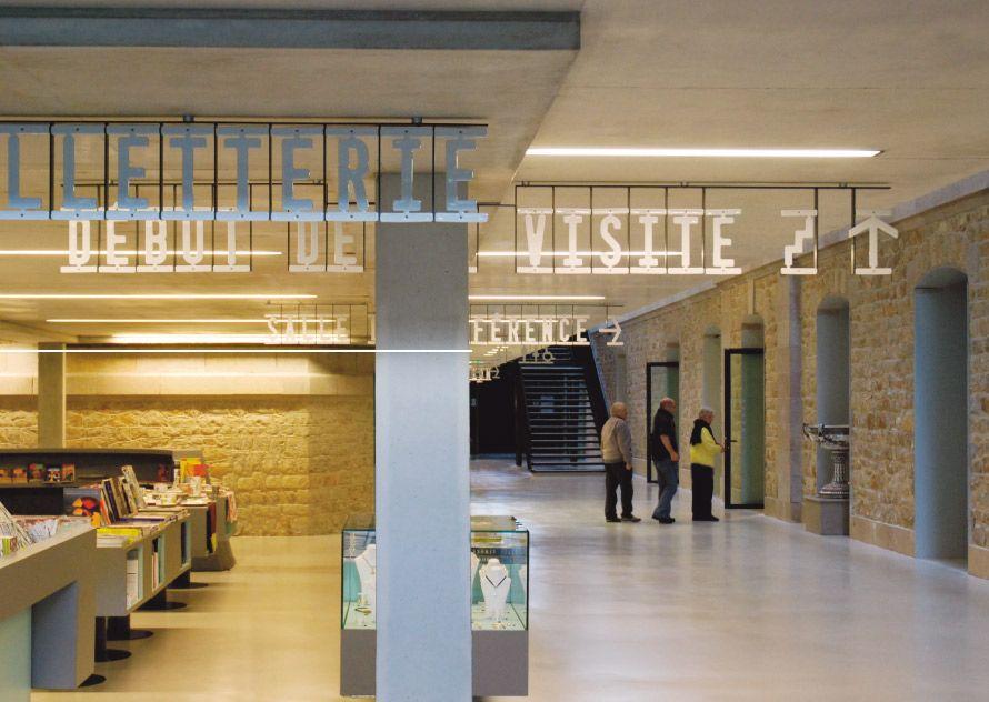 Musée National Adrien Dubouché - Signalétique bâtiment - Atelier ter Bekke & Behage