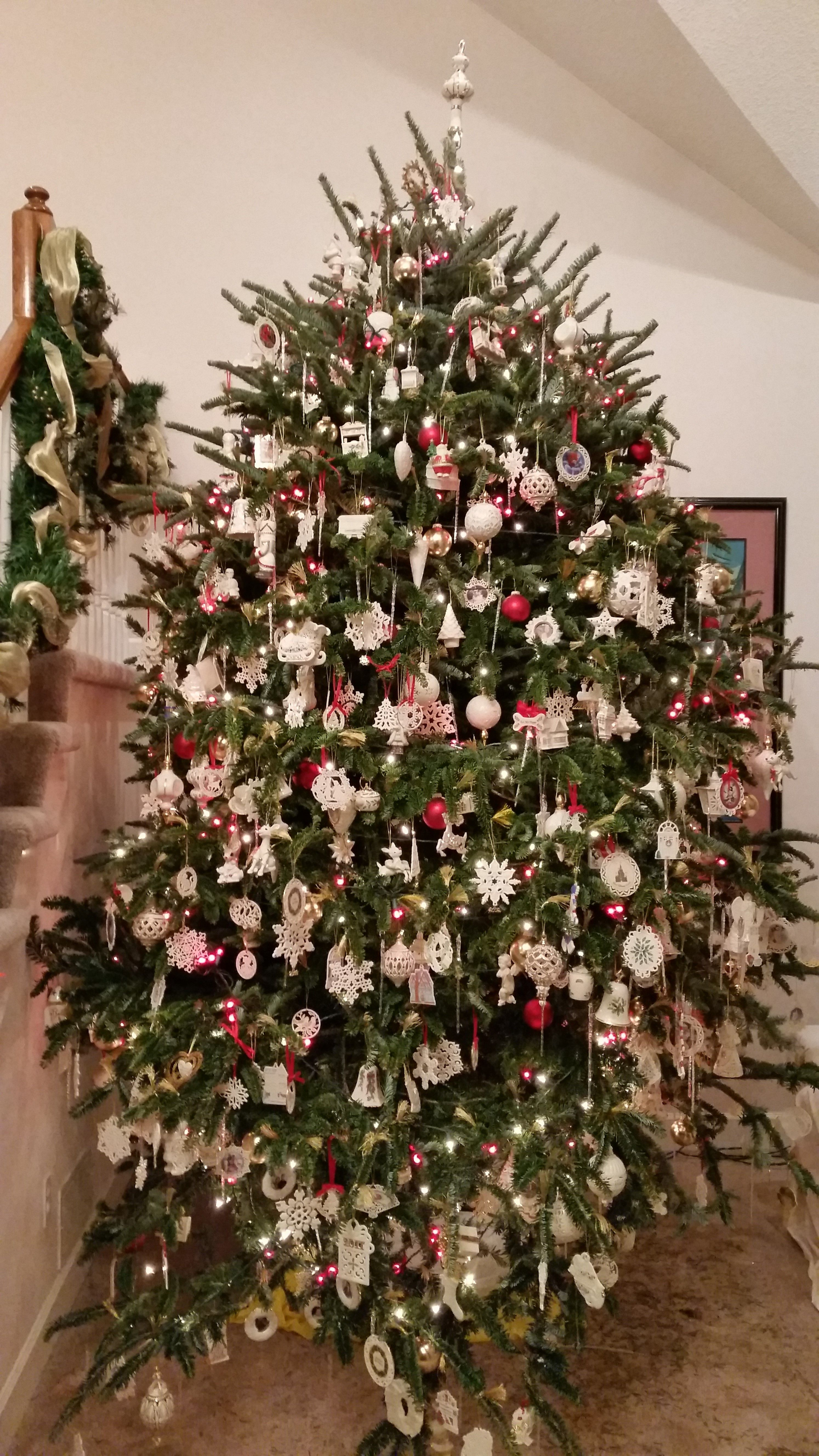 Our 2014 Christmas Tree Covered In Lenox Ornaments