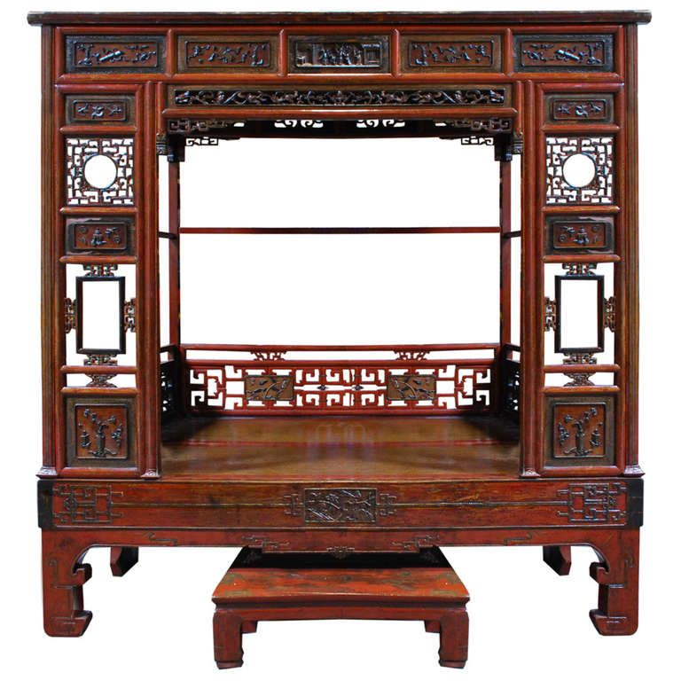 Early 20th Century Chinese ... - Early 20th Century Chinese Canopy Bed Art Furniture, Canopy And Asian