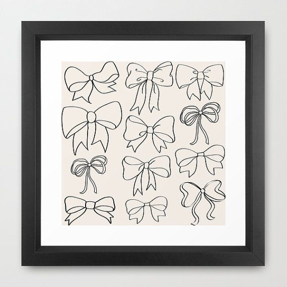 Bow Wall Art Digital Downloadable Print Digital By