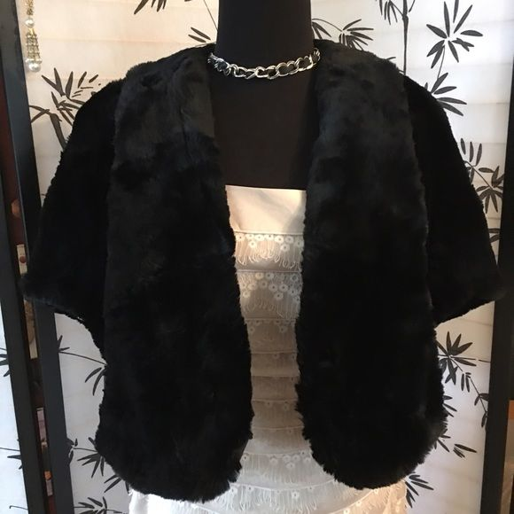 🌺 Very pretty Real Mink Black Shrug Coat 🌺 🌺 Very pretty Real Mink Black Shrug Coat 🌺with black satin and flower detailing on the interior ~ so cute and perfect condition ~ this will fit a size 6-10 because of its  capelet style~ gorgeous with everything you pair it with ! Alaska Fur Shop Jackets & Coats Capes