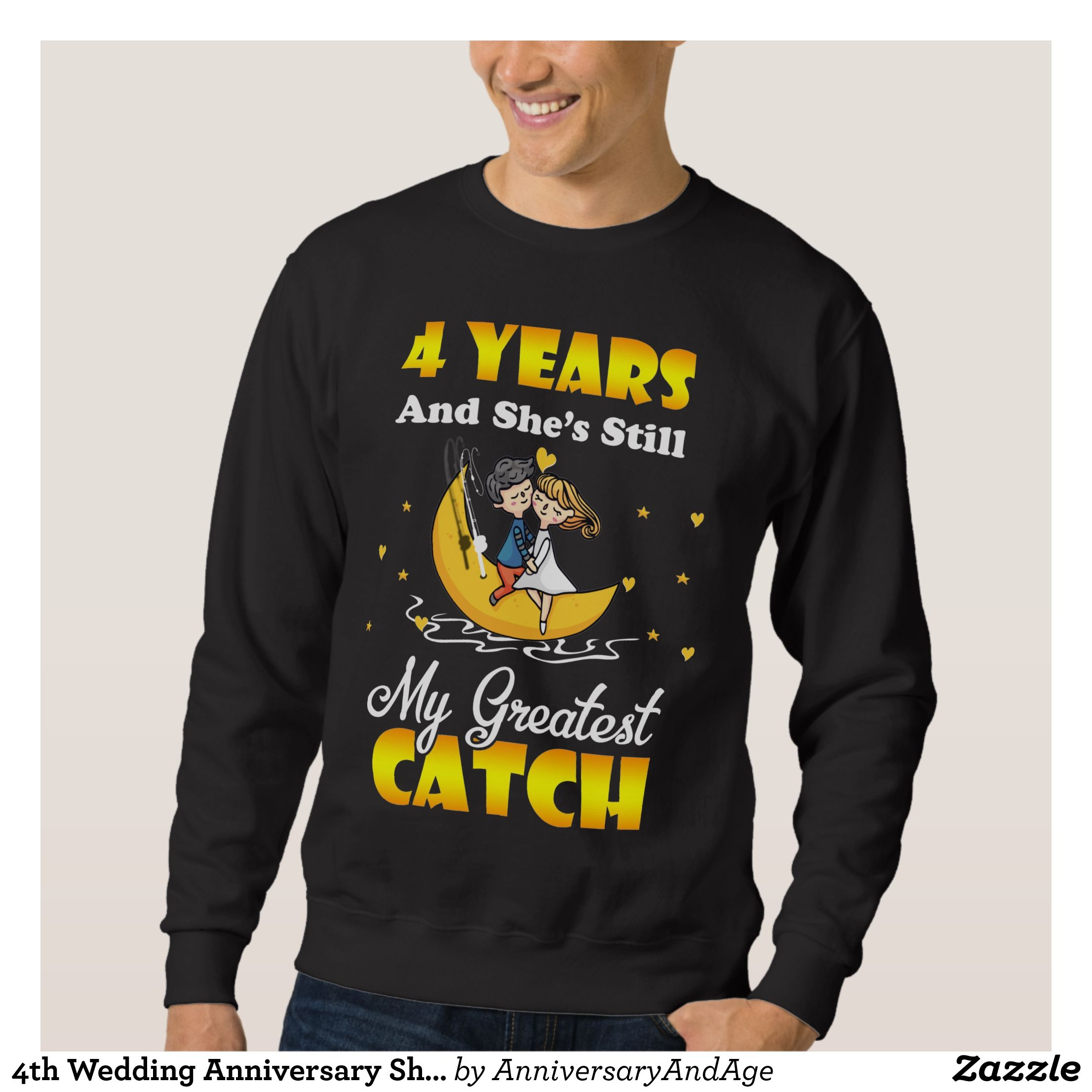 4th Wedding Anniversary Shirt. Gift For Husband Sweatshirt