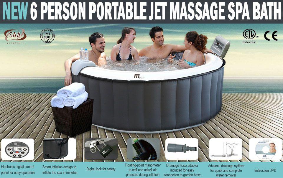 Spas & Hot Tubs : MSPA 6 Person Portable Hydro Jet Massage Spa Bath ...