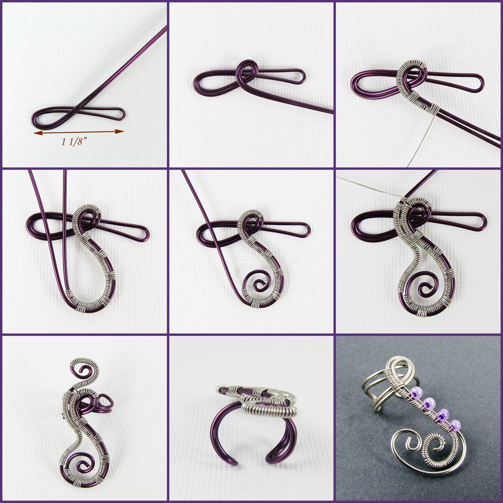 Woven Swirls Mini Tutorial | Wire ear cuffs, Ear cuff tutorial and Wraps